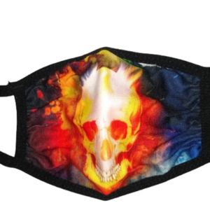 Firey Skull Mask Child One Size Fits Most